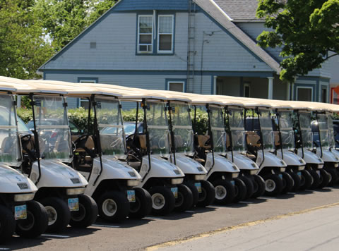 Golf cart rentals on PIB